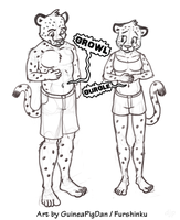 Hungry leopards by GuineaPigDan