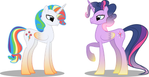 Rarijack Dash and Pinkieshy Sparkle by Emkay-MLP