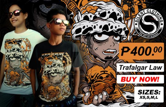 Trafalgar Law Tshirt by francisryanperez