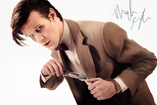 Matt Smith as the Doctor Painting by Frodo-Baggins1994