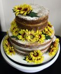Naked Cake with Flowers by KirstysCakes