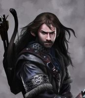 the hobbit kili study by Celvany