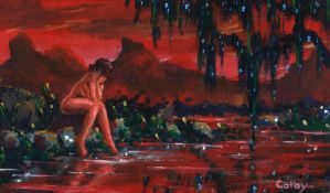 Woman by Red Stream by ColbyBluth