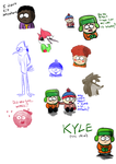 Regular Show and South Park doodles 2 by LotusTheKat