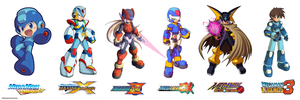 Megaman Official Art Styles by ultimatemaverickx