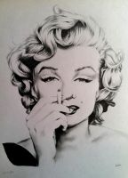 Marilyn Monroe by SarahEleanor