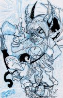KITTY AND BATZ VARIANT COVER STAGE THREE by U-D0NT-KN0W-ME