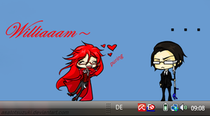 Shimeji - Grell loves William by AsatoTsuzuki