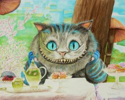 The Cheshire Cat by Nathalief87