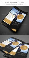 Black Corporate A D Flyer by calwincalwin