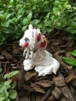 Princess Mononoke Wolf Side View by AleciaEdwards