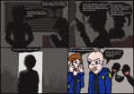 Officer Baby Face + Dog Comic Page One by QweXTheXEccentric