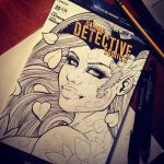 Poison Ivy Sketchcover WIP by TheCourtneyRose