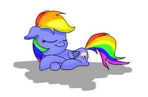 Rainbow Dash Sleeping by ChickenSteve