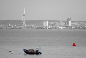 Looking to Portsmouth from Seaview. by rebecca-jill-jones