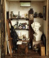 The small studio -The space of art creation by dollhouseara