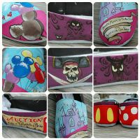 Magic Kingdom inspired painted  shoes by pepe-shalamar