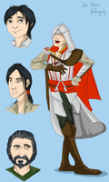 Ezio Auditore by Moonwayfarer