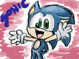 tablet practise-Sonic by LeniProduction