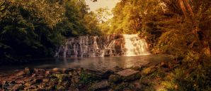 Waterfall Streams (Panorama) by SparkVillage