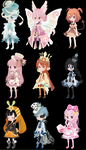 OTA Pink Blue and Orange selfy adopts (closed) by i-am-a-fangirl