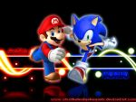 Mario and Sonic Wallpaper by AlexTHF
