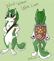 Wind Waker Wolf Link by RolePlayWulf