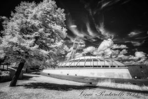 Olimpic Stadium in Infrared by vincepontarelli