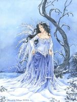 Book art - Snow Maiden by MeredithDillman