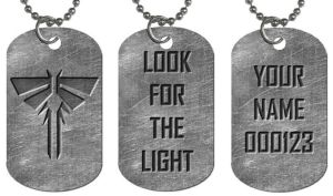 Customizable Fireflies Dog Tag Necklace by Enlightenup23