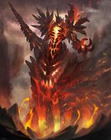 Fire elemental creature boss type by shirohtakashiya