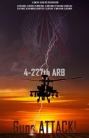 4-227th Guns Attack Poster by Raulboy
