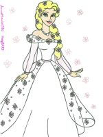 Snow Bride Elsa by AnneMarie1986