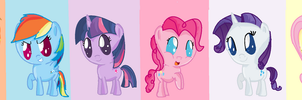 ms paint chibi mane 6 by sparkle102