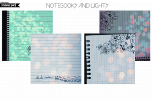 Notebooks and Lights (4 textures) by feelthecolours