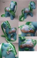 Aqua custom pony by Woosie