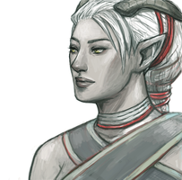 Female Qunari by minijuuku