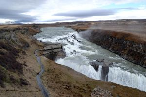 Gullfoss waterfall by pvf