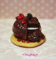 Chocolate cake miniature by tinkypinky