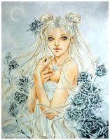 Princess Serenity Sailor Moon by Hollow-Moon-Art