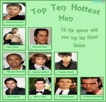 My List of the Hottest Real Men by KessieLou