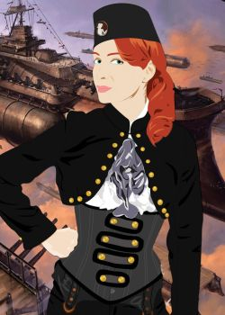 Steampunk Felicia Day by SimulatedViolet