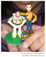Woody and Buzz in Plasticine 2 by Bele-xb7