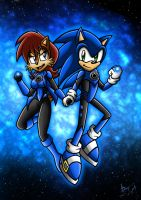 Blue Lanterns Sally and Sonic by Berty-J-A