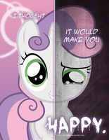 MLP - Two Sides of Sweetie Belle by TehJadeh