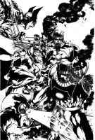 Jimbo's X-men inked by 7daywalk
