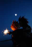 AkuRoku - with fire in his eyes. by Millahwood