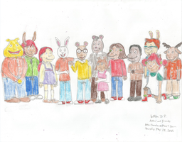 Arthur and Other Arthur Characters by WillM3luvTrains
