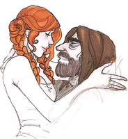 Sandor x Sansa by hedgehog-in-snow