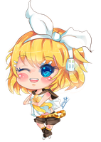 Rin (Vocaloid) Chibi by KyouKaraa